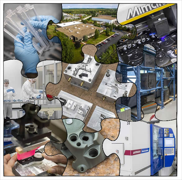 A photo collage of Granite State Plastics